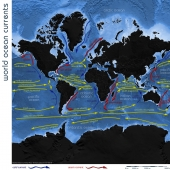 world oceanic currents map