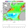 he seasonal evolution of the chlorophyll a concentration as seen by a « water color » satellite (SeaWifs) in the Atlantic Ocean